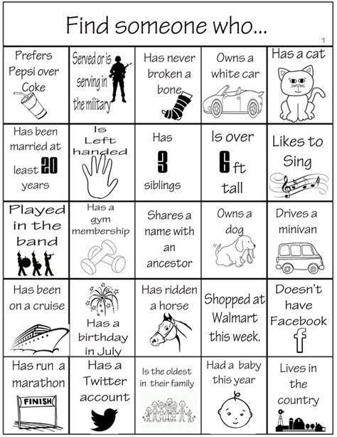 Some Find Family Reunion Bingo Family Reunion Helper
