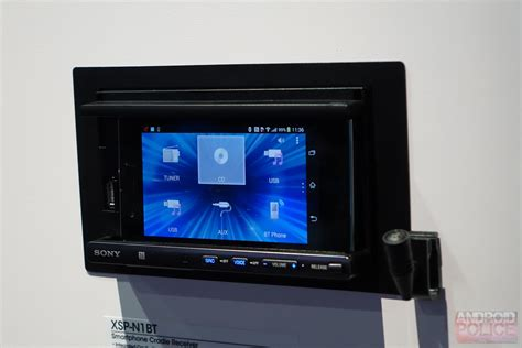 android stereo ces 2014 on with the sony xsp n1bt android phone mount car stereo