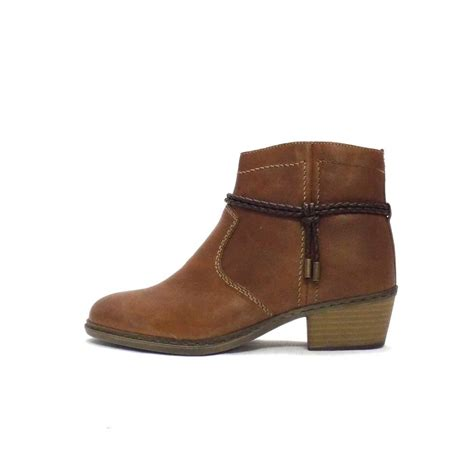 ankle boots rieker boot rugby brown leather ankle boot