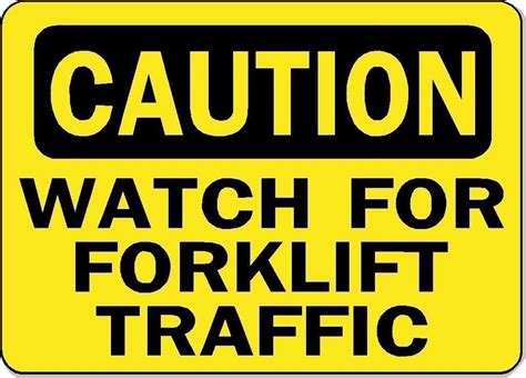 Sticker Safety Sign Traffic Sign No caution for forklift traffic osha safety sign decal sticker ebay