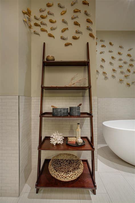ladder for bathroom cottage bathroom look add this bathroom ladder shelf