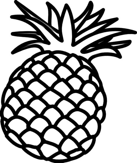 Pineapple Clipart Black And White pineapple outline clip at clker vector clip royalty free domain