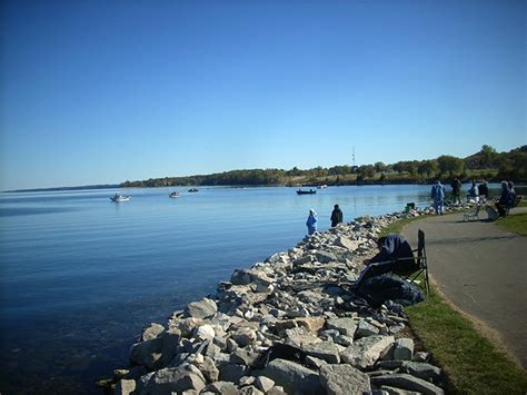 fishing maps lake simcoe shore fishing hotspots - Public Boat Launch Barrie