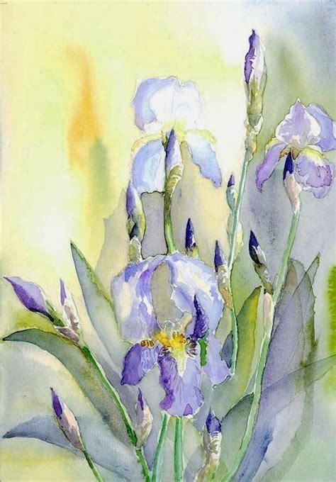 watercolor tutorial iris top 145 ideas about art iris flowers on pinterest