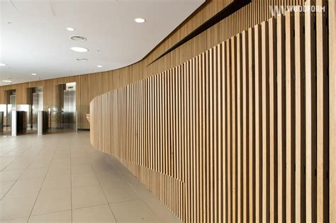 design on click american white oak curved wall interior application