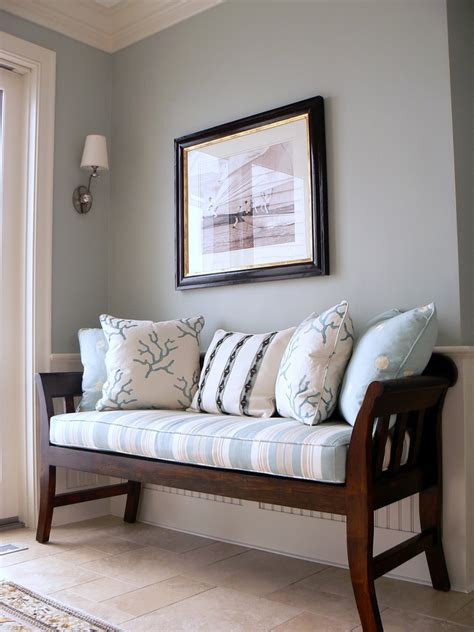 entry room bench staggering counter height bench decorating ideas