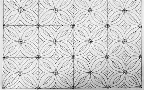 tutorial cara menggambar flora contoh batik yang mudah contoh sr