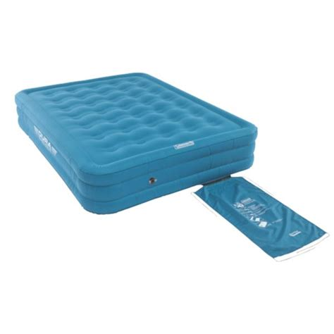 coleman air beds coleman durarest double high airbed queen cingcomfortably