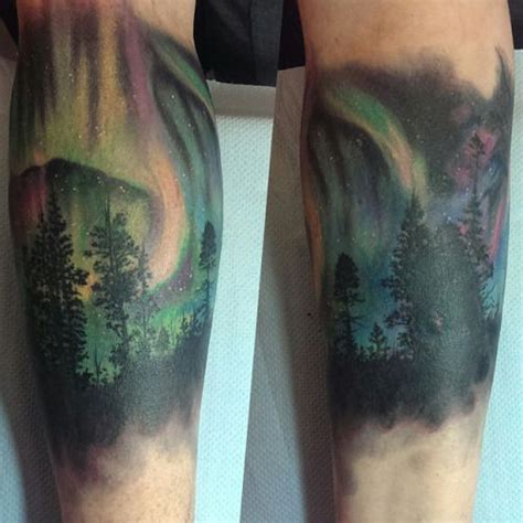 aurora tattoo 1000 ideas about northern lights on