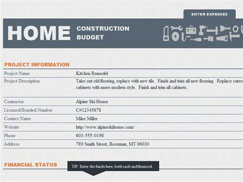 home building budget template home construction budget template threshold inspiration