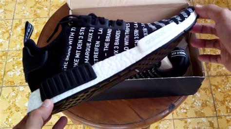 Sepatu Adidas Nmd R1 White sepatu sneakers adidas nmd r1 black white s76519 unboxing
