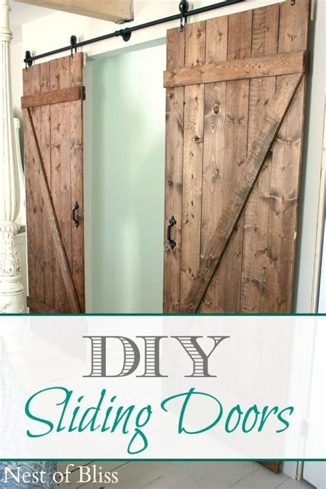 Sliding Barn Doors Diy Diy Sliding Doors Nest Of Bliss Quot Diy Home Decor Ideas Quot Diy Sliding Door