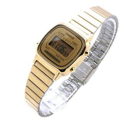 casio oro donna casio la670wga 9df orologio polso donna acciaio oro