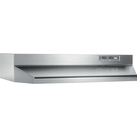 home depot cabinet range broan 40000 series 24 in range in stainless steel