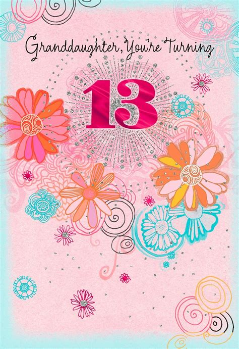 13th Birthday Cards For Granddaughter your time to shine 13th birthday card for granddaughter