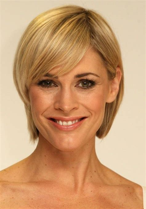 hairstyles for narrow faces women 100 best short haircuts for round faces and thin hair