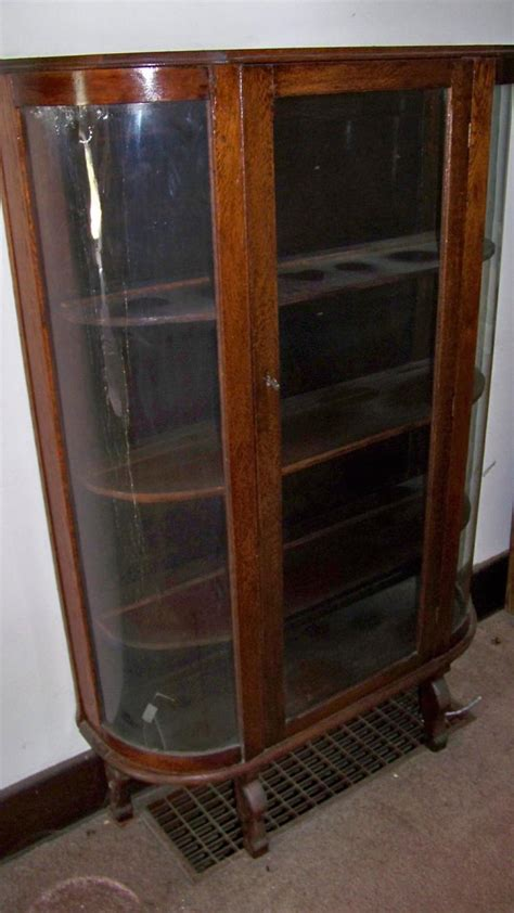 replace broken glass china cabinet oak china cabinet with curved glass front