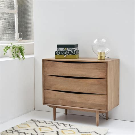 Commode Manguier by Commode En Manguier 3 Tiroirs Style Scandinave Decoclico