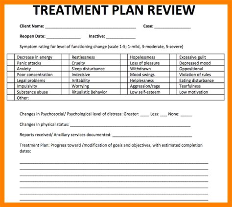 counseling treatment plan template 5 counseling treatment plan template army memo format