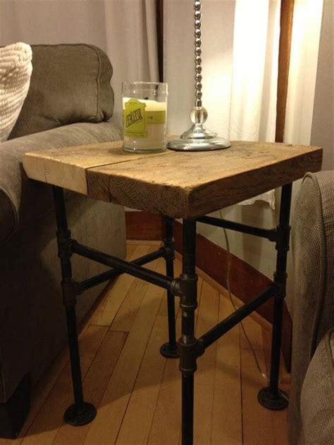 diy side table diy pallet industrial side table pallet furniture diy