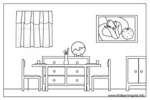 Dining Room Coloring Pages sketch template