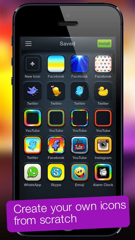 iphone themes maker app icons for ios 7 home screen icons skins frames