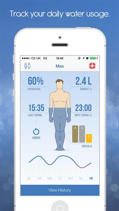 ios 9 hydration idrated hydration monitor water log drink alarm and