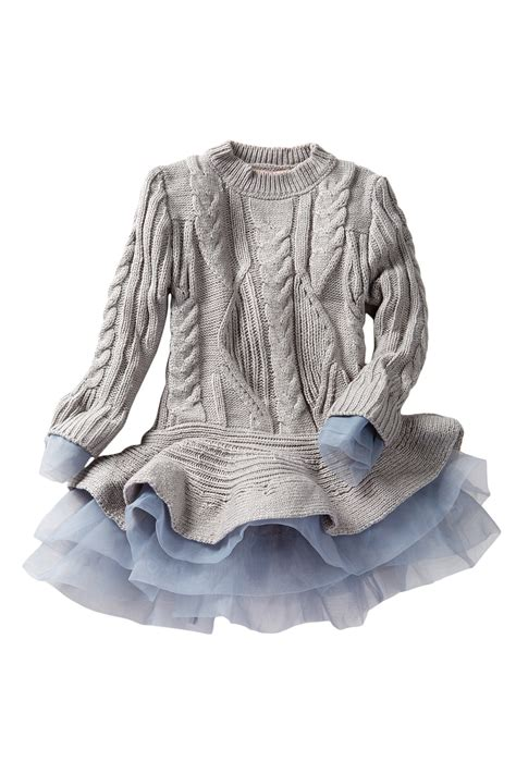 Vsh3253 Sweater Dress Tutu paulinie flounce sweater tutu dress toddler big nordstrom rack