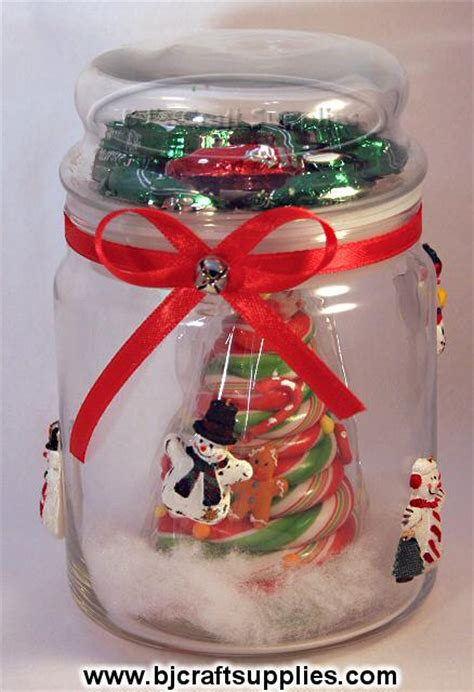 recycled christmas candies jar