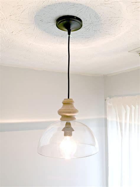 diy kitchen light fixtures diy glass pendant light fixture knockoff the ugly
