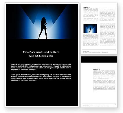 Fashion Show Powerpoint Template Backgrounds 03788 Poweredtemplate Com Show Powerpoint Templates