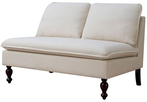 bench loveseat kenzie ivory loveseat bench from furniture of america coleman furniture