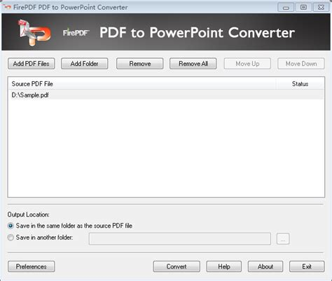 converter pdf to pptx firepdf pdf to powerpoint converter screenshot x 64 bit