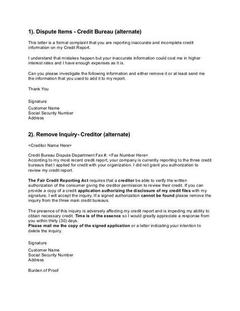 credit bureau credit bureu credit repair letters