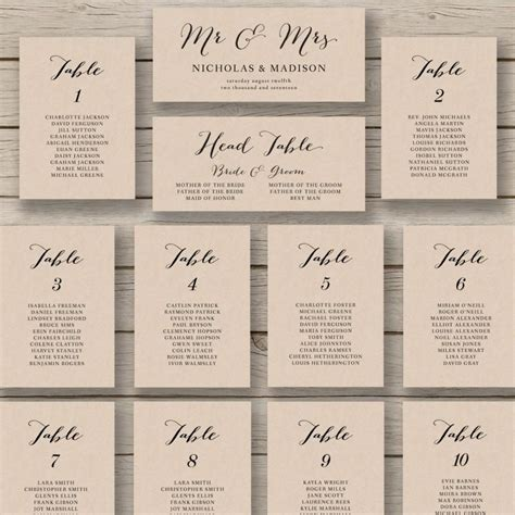 table plan cards template wedding seating chart template printable seating chart