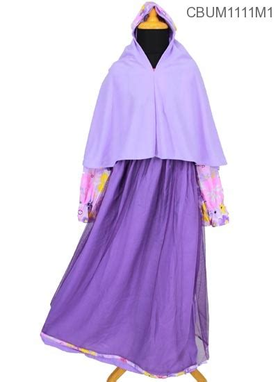 gamis anak sb101 t tutu bunga size 10 baju muslim anak