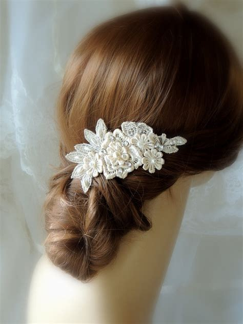 wedding hair clip pearl wedding hair accessories wedding ivory hair comb