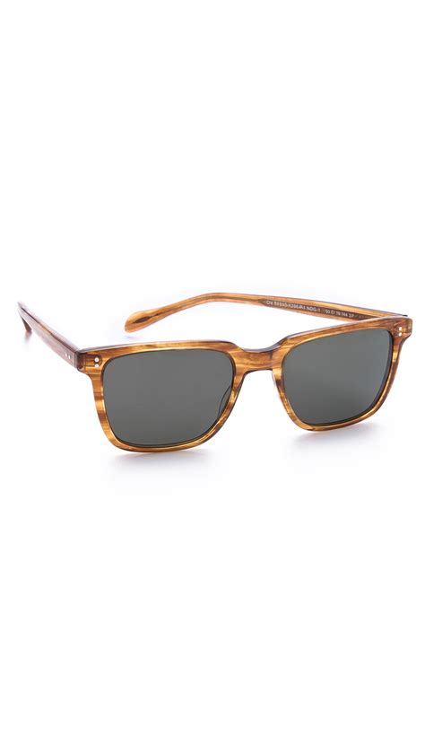 oliver peoples ndg polarized sunglasses in brown for