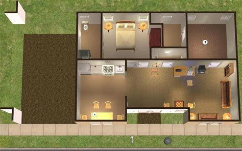 Mod The Sims 3 Fledgling Flats Modern Base Game No Cc Sims 3 Starter House Plans
