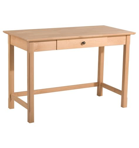 Modern Writing Desks 44 Inch Modern Writing Desk Bare Wood Wood Furniture Groton Ct