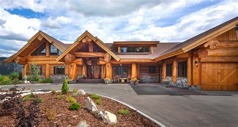 Luxury Estate Home Plans by Pioneer Log Homes Of Bc Handcrafted Log Cabin Plans And