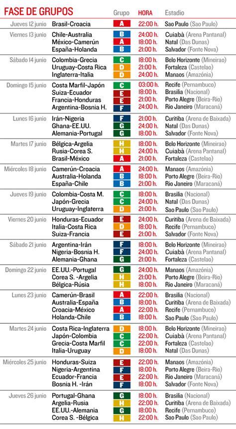 Calendario Mundial Calendarios Mundial De F 250 Tbol De Brasil 2014 Beevoz