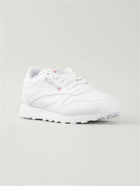 reebok classic sneakers reebok classic leather sneakers in white lyst