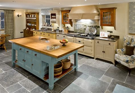 Kitchen Island With wychwood solid oak french style kitchen