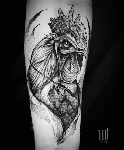 rooster tattoo designs men rooster on arm best ideas gallery