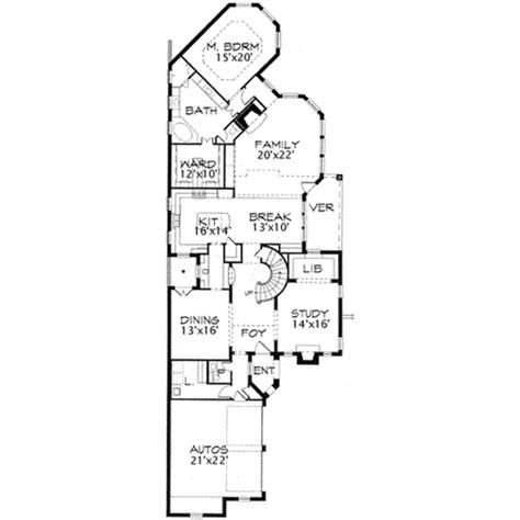 European Style House Plan 3 Beds 2 50 Baths 3800 Sq Ft 3800 Sq Ft House Plans