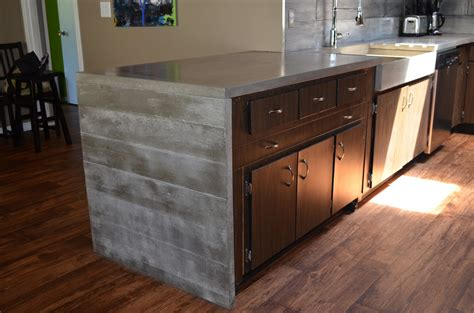Concrete Kitchen Countertops Mode Concrete Modern Contemporary Concrete Kitchen With Waterfall Countertop Made In Kelowna