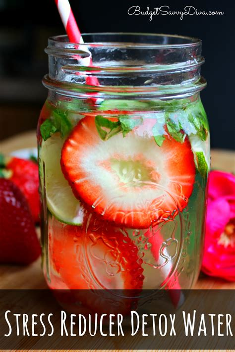 Detox For Stress Relief by Stress Reducer Detox Water Recipe Budget Savvy