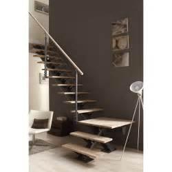 escalier alu escalier quart tournant mona structure aluminium marche