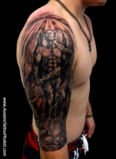 guardian angel tattoo half sleeve about angel half sleeve tattoos what is the meaning of